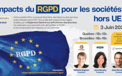 Impacts du RGPD pour les sociétés hors UE